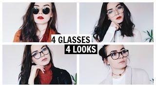 4 GLASSES - 4 LOOKS / Outfits & Makeup / Lookbook - Nika Erculj thumbnail