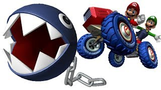 Chain Chomp On All Tracks & Battle Stages! - Mario Kart Double Dash