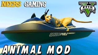 GTA 5 - Make Yourself an Animal Mod - Funny Moments - Grand Theft Auto Gameplay Video