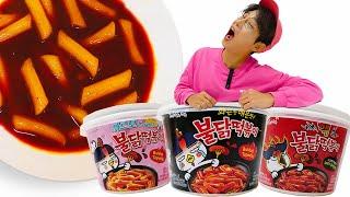 Mukbang Spicy Pororo tteokbokki 불닭볶음면 불닭떡볶이 먹방 BBororo Spicy Noodles  Moki 모기 먹방