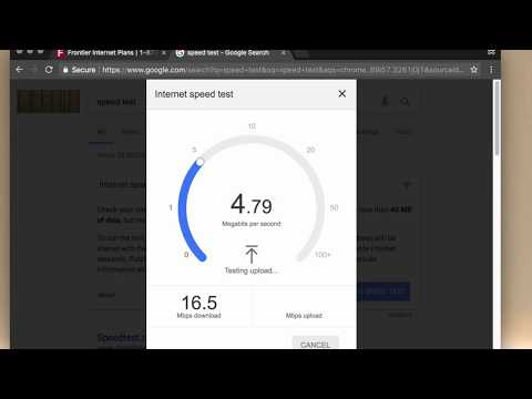 Frontier Communications DSL Speed Test
