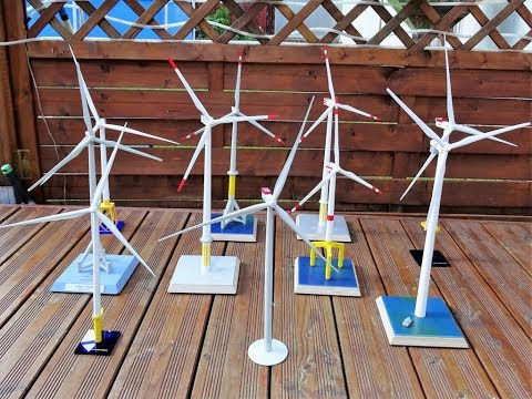 Offshore Windrad Modell Sammlung, Offshore windmill model collection