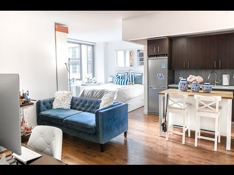 New york city studio apartment tour updated covering - Pictures of studio apartments ...