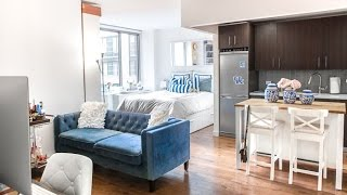 New York City Studio APARTMENT TOUR (updated) / Covering the Bases