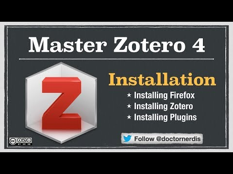 Zotero Tutorial: Installation