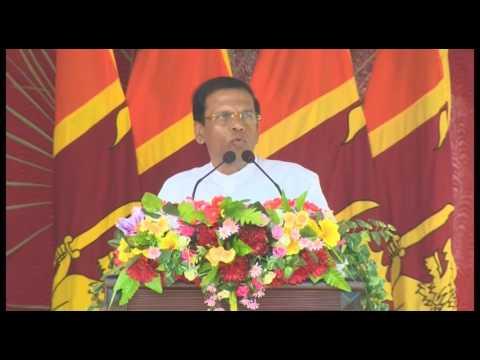 President Maithripala Sirisena Speech -  Central College,JAFFNA -2016 - 09- 09