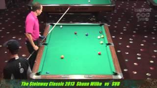Shane Van Boening vs Shaun Wilkie at the 2013 Steinway Classic InsidePoolmag NYCgrind
