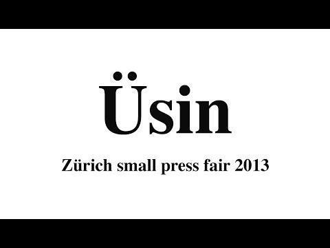 Üsin Talk - Zürich small press fair 2013
