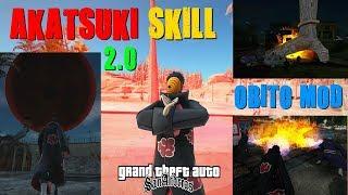 GTA MOD AKATSUKI SKILL 2.0 OBITO JUTSUS (Naruto) By Ikizer Donno Com SA_DirectX 2.0