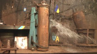 Гідравлічні випробування до руйнування зразка труби 219×6, сталь 20. I1