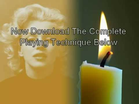 Candle In The Wind Easy Piano Keyboard Tutorial Youtube