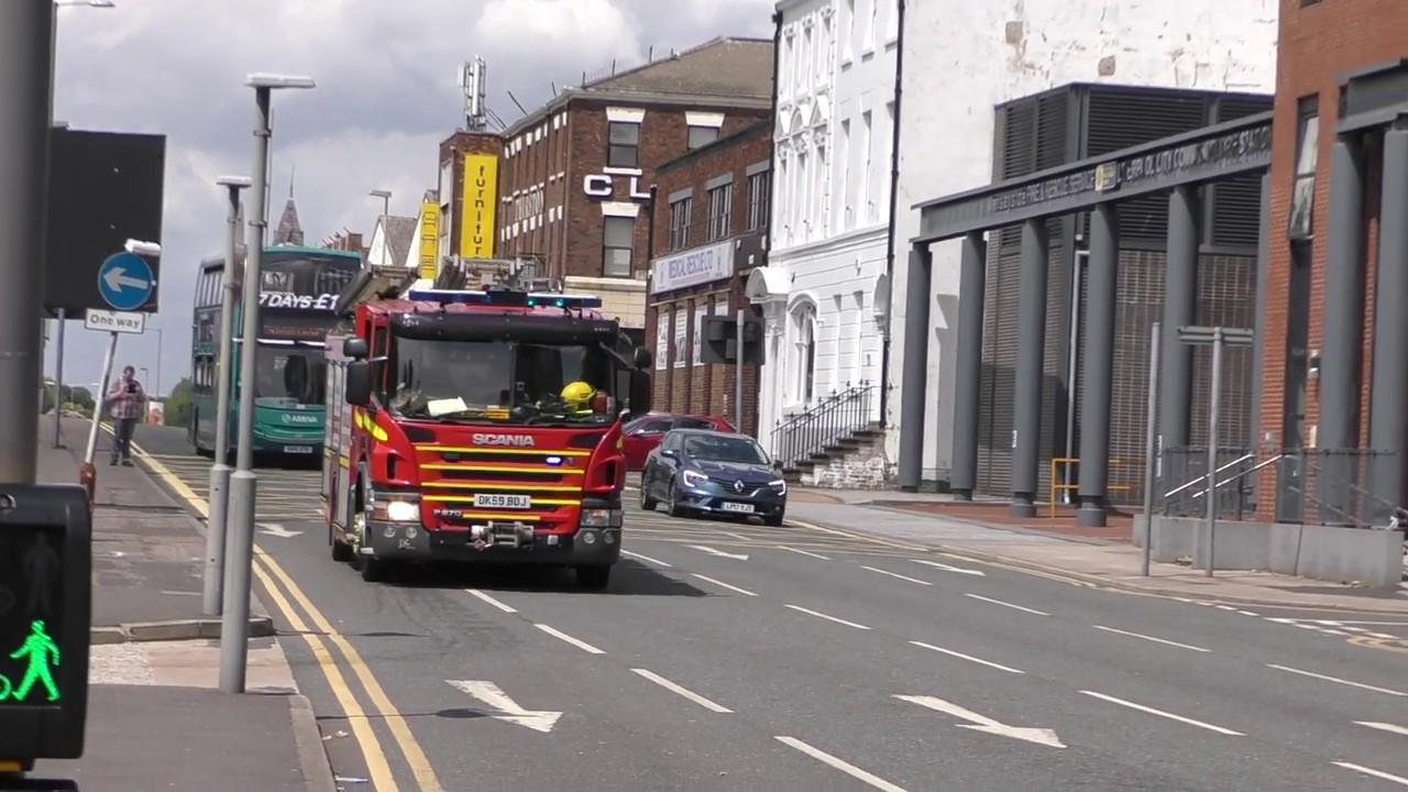 Merseyside Fire & Rescue Service City Centre P2 Responding