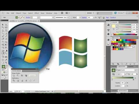 Adobe Illustrator CS5 Tutorial 25 | Microsoft Logo