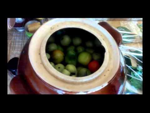 Рецепт Соление зелёных помидоров в бочке  без регистрации