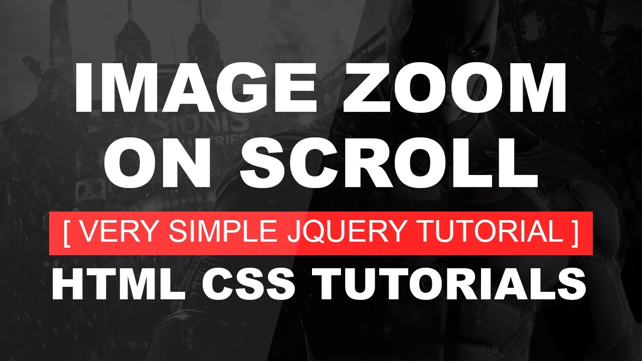Background image zoomed in css - Background Image Zoom On Scroll Hero Image Zoom On Scroll Very Simple Jquery Tutorial Css