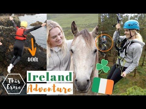 I Jumped OFF a CLIFF! Connemara Ponies, Ziplining - Ireland Travel Adventure | This Esme