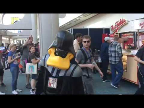 Duck Vader Meets Fans At Comic Con #SDCC