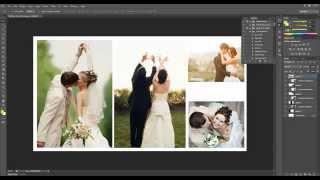 Düğün Fotoğrafçılığı Albüm Sayfa Tasarımı Photoshop Cs6