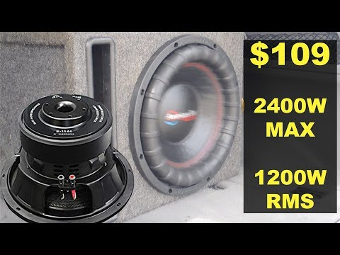 Best CHEAP Subwoofer! $109 1200WATTS RMS | American Bass E-1244 Review