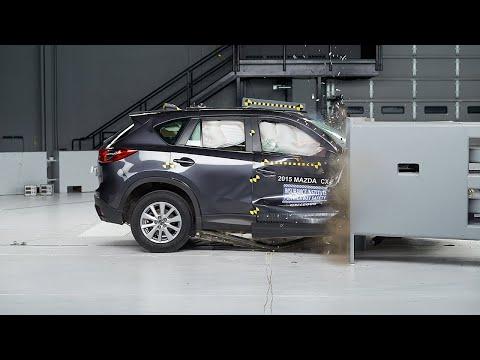 2015 Mazda CX-5 passenger-side small overlap IIHS crash test
