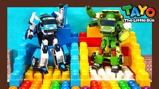 Мощные большегрузные автомобили l Робот Тайо строит домик из лего! l Приключения Тайо