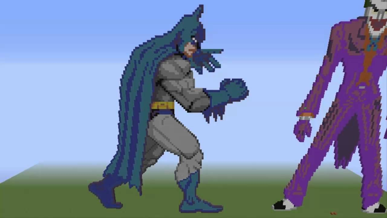 Batman And Joker Pixel Art