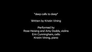 """Video - Listen to """"deep calls to deep"""""""