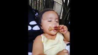 My baby falling asleep while eating - Funny Baby Videos