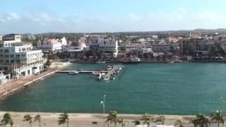 カリブ海、アルバ島のオラニエスタッド Aruba Oranjestad