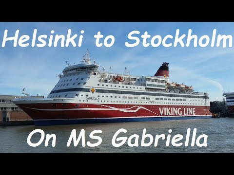Helsinki to Stockholm ferry trip on Gabriella