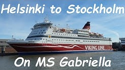 Helsinki to Stockholm ferry cruise on MS Gabriella