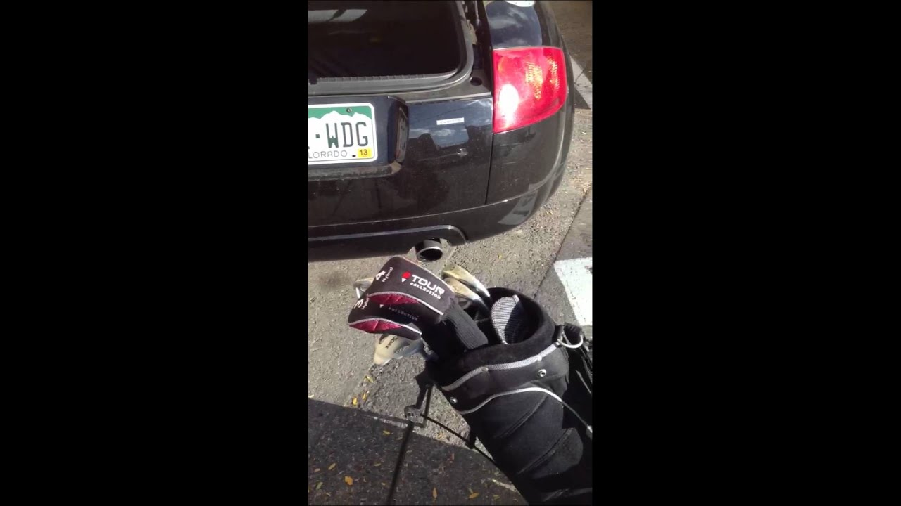 How To Fit Your Golf Clubs In Audi Tt Convertible Youtube