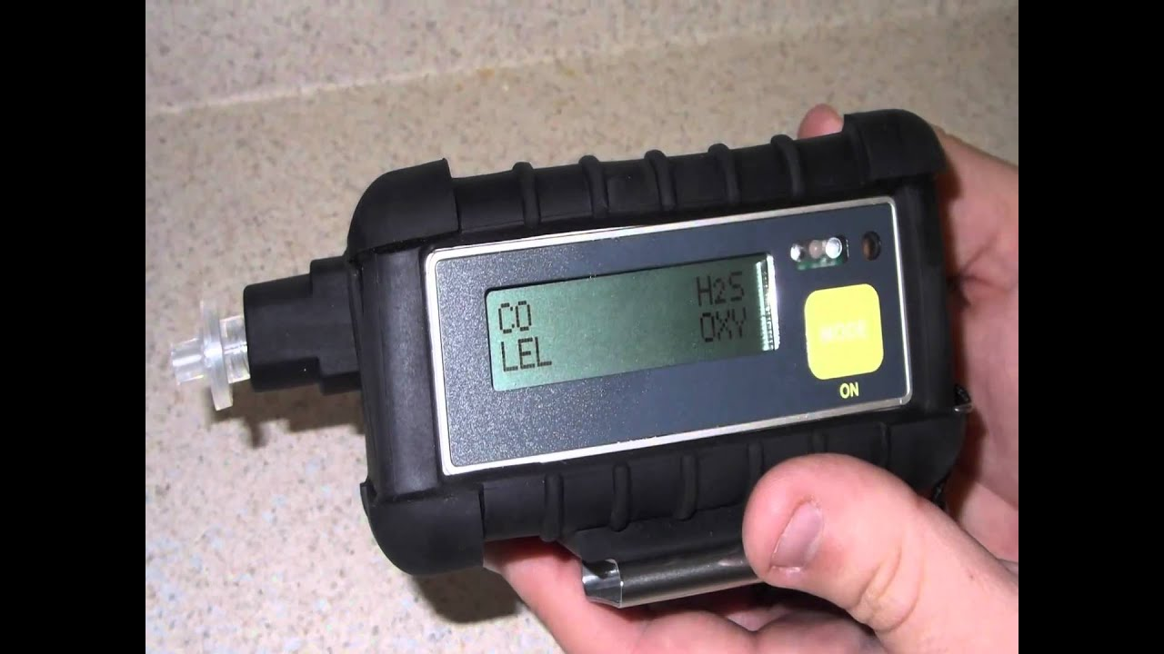 4 Gas Meter : Qrae gas monitor user guide youtube