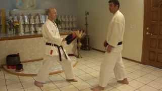 karate kizami mae geri (front leg front kick) part1