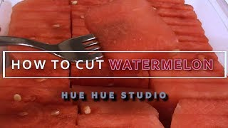 수박 예쁘게 자르는법 HOW TO CUT WATERMELON