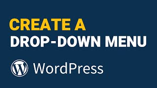 WordPress Menü Aşağı bir Damla Oluşturma