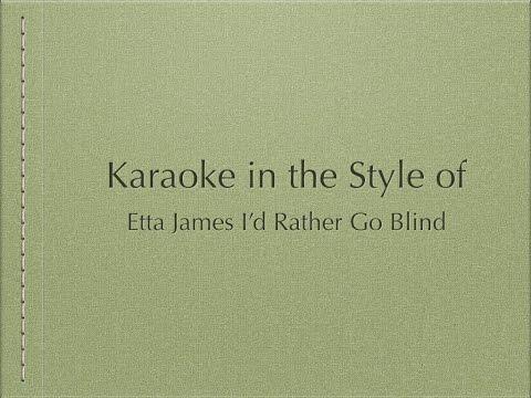 Karaoke in the Style of