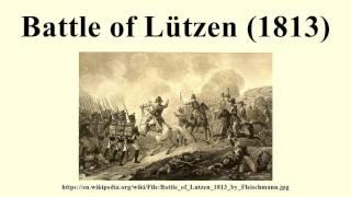 Battle of Lützen (1813)