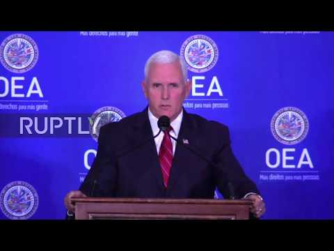 USA: Pence urges Latin America to 'sanction' Venezuela