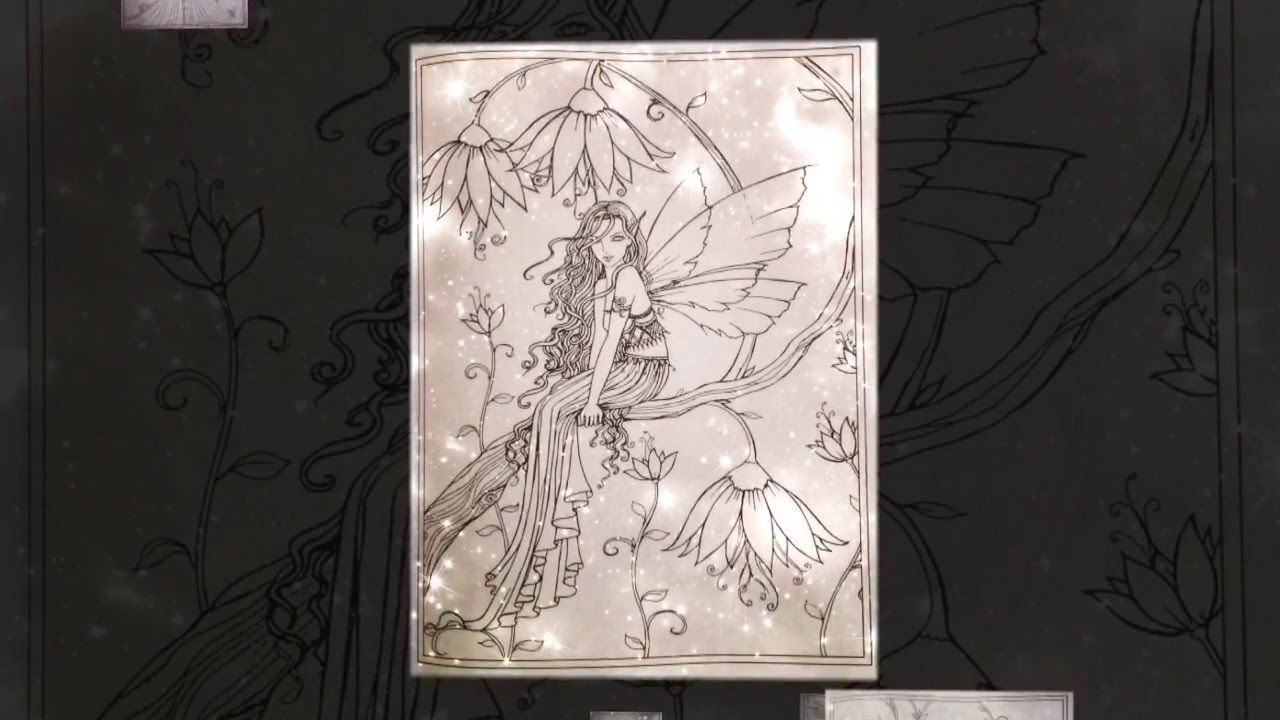 Livre De Coloriage Fairies Fantasy Molly Harrison