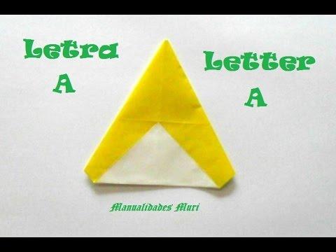 Papercraft Origami - Papiroflexia. Abecedario muy fácil. Letra A