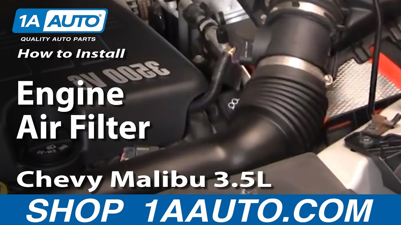 how to install replace engine air filter 04 08 chevy malibu 3 5l 1aauto com youtube [ 1920 x 1080 Pixel ]