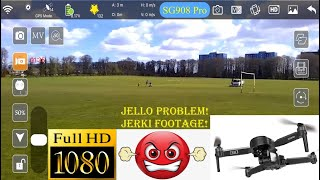 "New ZLL 2021 SG908 Pro Drone Full HD Video @ 1080p ""Jello \u0026 Jerky"" Review at Leagrave Park Luton"