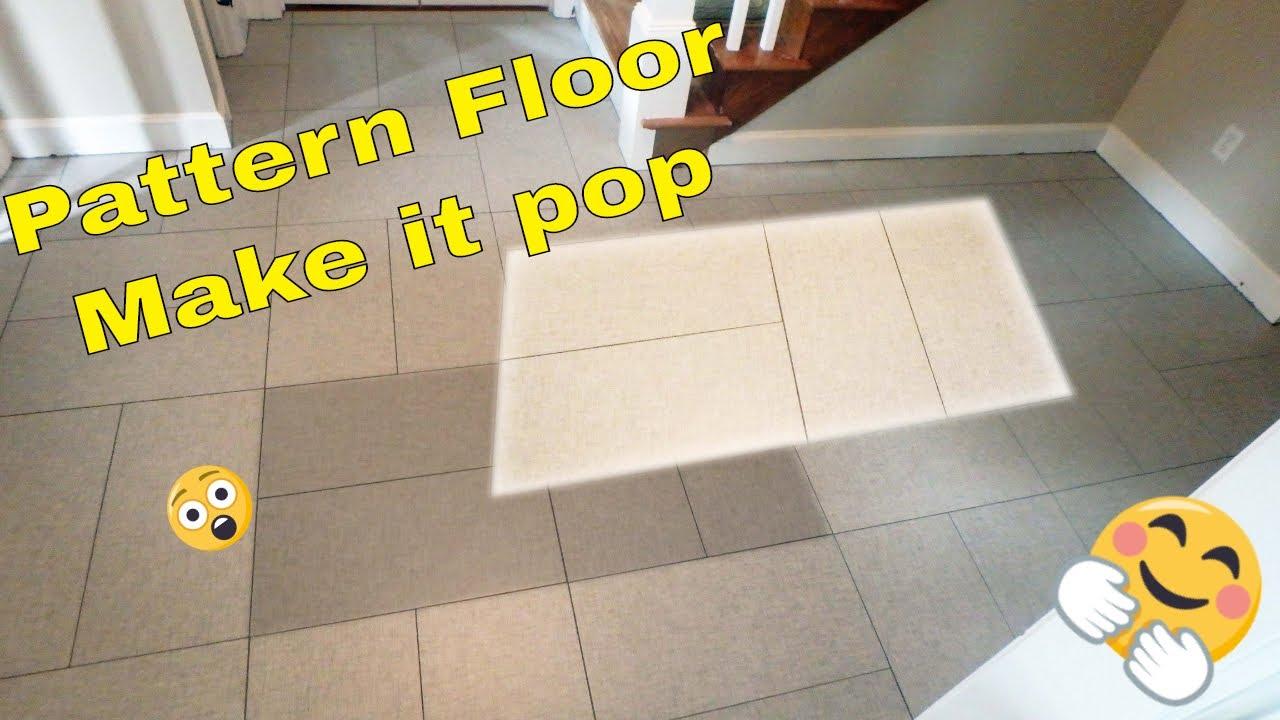 basket weave tile pattern floor with large format tile