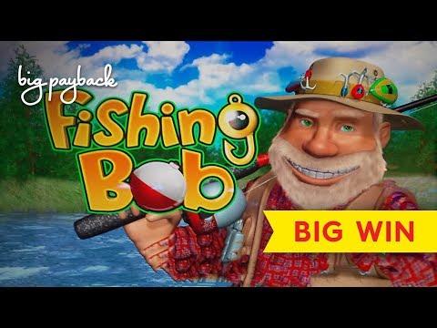 Fishing Bob Slot - AWESOME BONUS - RARE TRIGGER! - 동영상