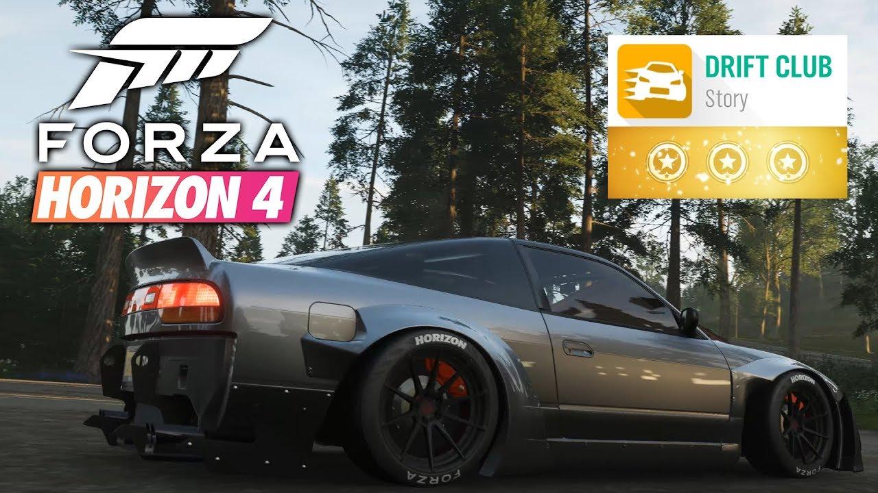 Forza Horizon 4 DRIFT CLUB ALL CHAPTERS 3 STARS Gameplay