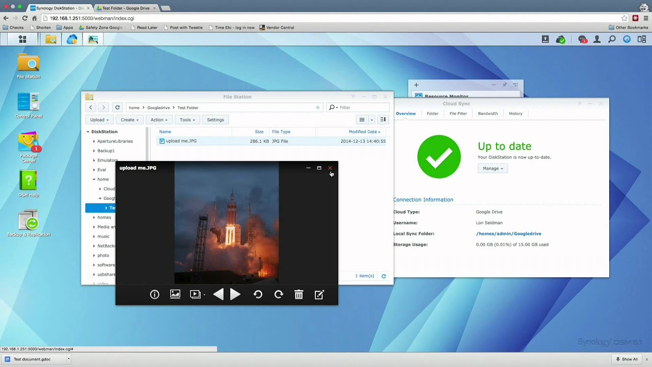 Synology Diskstation NAS: How to sync Google Drive, Dropbox, OneDrive and  others