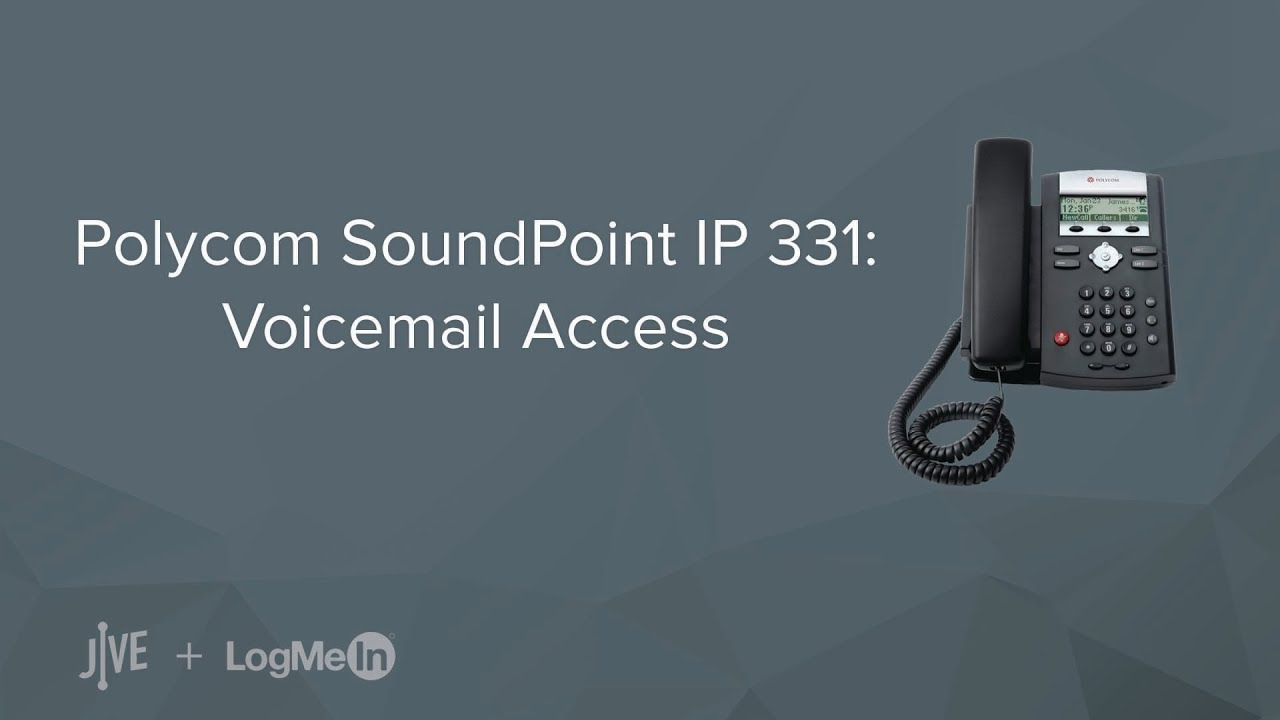 Polycom SoundPoint IP 331 -- How do I check my voicemail?