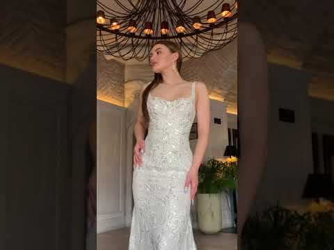 Elegant and glamorous mermaid gown 23710 for confident brides.