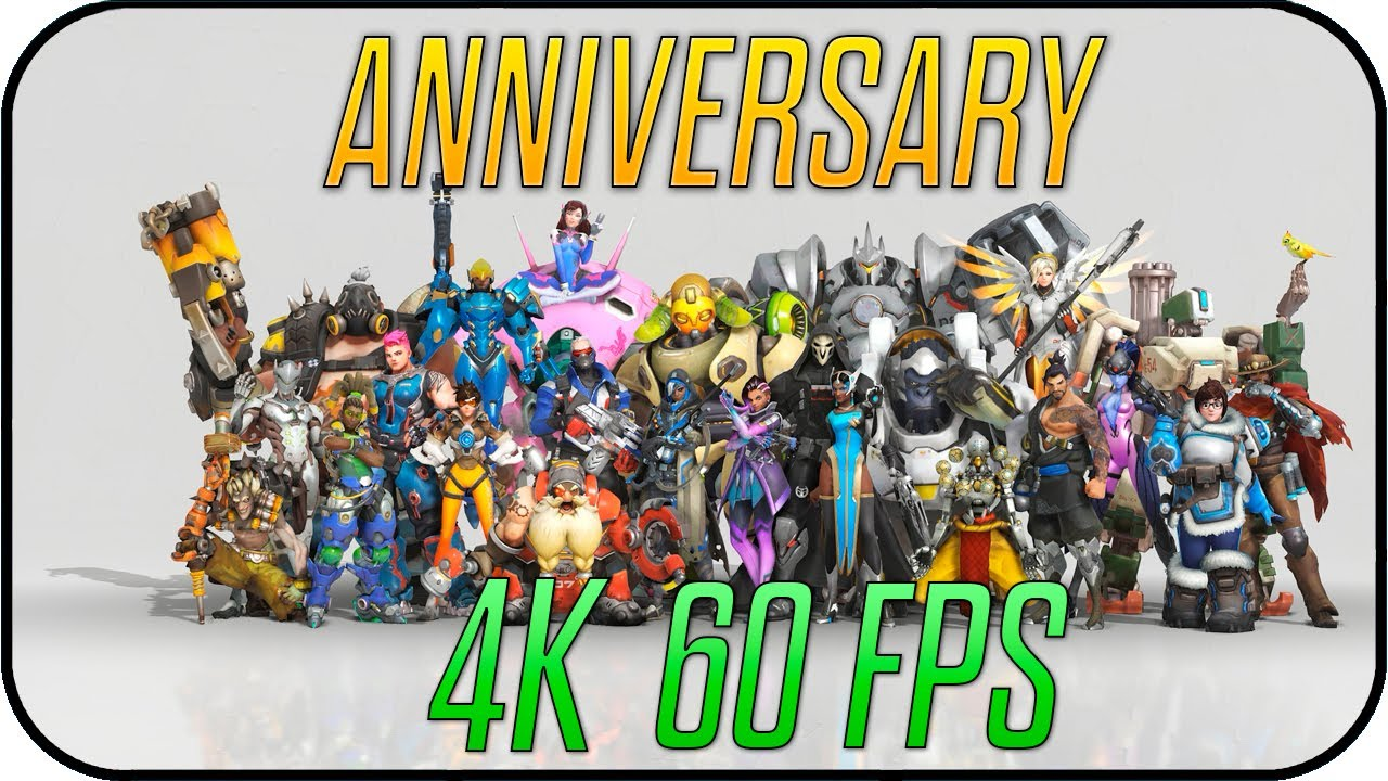 Overwatch Aniversario Animated Desktop Wallpaper 4k 60fps
